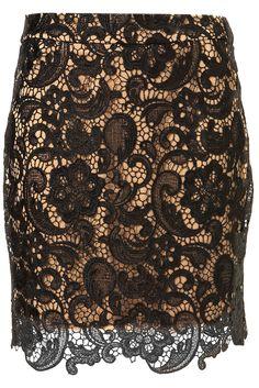 Topshop // Danny Lace Skirt (Black)