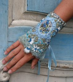 Evoking Jane Austen. Embroidered cuff