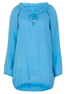 120% LINO BLUE DRAWSTRING SHIRT Lady, Shirts, Blouse, Mens Tops, Clothes, Collection, Design, Women, Fashion