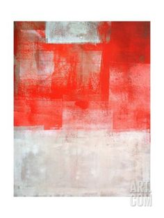 Art.fr - Reproduction d'art 'Beige And Coral Abstract Art Painting' par T30Gallery