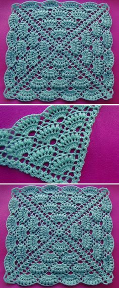 Crochet Triangle - Her Crochet Crochet Triangle Pattern, Crochet Squares, Crochet Motif, Crochet Doilies, Knit Crochet, Free Crochet, Baby Boy Knitting Patterns, Crochet Stitches Patterns, Stitch Patterns