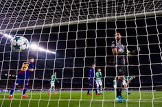 Rui Patricio of Sporting CP reacts after Paco Alcacer of FC Barcelona scored the opening goal during the UEFA Champions League group D match between FC Barcelona and Sporting CP at Camp Nou on December 5, 2017 in Barcelona.