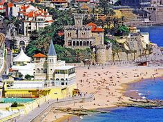 Estoril, Portugal...see the walk way right on the beach...that was my morning walk...tbh