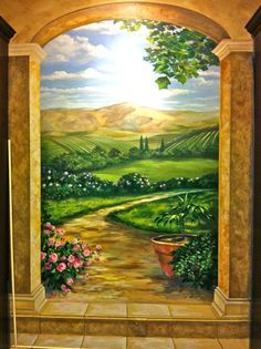 Garden Wall murals on Pinterest