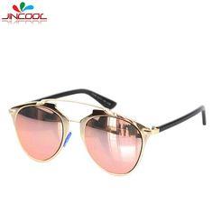 2016 So Fashion Cat Eye Sunglasses Women Luxury Brand Designer Real Vintage Reflected Mirror Sun Glasses Female Oculos de sol