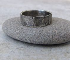 Men's Hammered Distressed Silver Reptile Rockstar Ring by SilverSmack Men's Hammered Silver Distressed Squares Antiqued Ring Band by Silve. Antique Wedding Bands, Rustic Wedding Rings, Hammered Silver, Silver Rings, Groom Ring, Wedding Men, Wedding Stuff, Wedding Ideas, Wide Band Rings