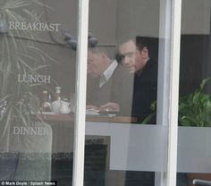 Michael Fassbender and his dad went for breakfast at the Canal Bank Cafe
