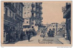 Blankenberghe 168: Rue d'Ouest et l'Escalier 1933 ( Camion Brasserie Wielemans)