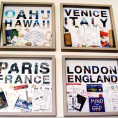A great way to remember where you been...just need London (England), Sevilla (spain), Paris(france), Barcelona(spain), Venice(italy), Rome(Italy), Lucerne(Switzerland), Madrid(Spain), Casablanca (Morocco), and Lagos(Portugal)