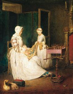 Jean Siméon Chardin, la Mère laborieuse  1740