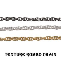 Texture Rombo Chain~~Filled Rombo Link Cable Chain~~New Style Cable Link Chain~~Findings Chain For Jewelry Making~~Gift For Chain. (1486) Brass Chain, Link, Cable, Jewelry Making, Texture, Etsy, Diamond, Bracelets, Gifts