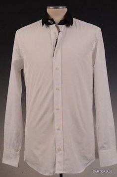 DOLCE & GABBANA White Cotton Shirt US 15.5 NEW EU 39 Slim Fit