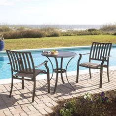 Panama Jack Island Breeze 3-piece Slatted Dining Bistro Group
