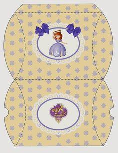 Fiesta de Princesa Sofía: Cajas Almohada para Imprimir Gratis.