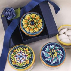 Deruta majolica boxes ... The Bomboniere Shop ... www.thebomboniereshop.com