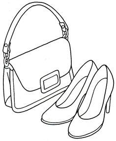 Dz Doodles purse and heels