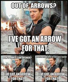The Hawk has got the arrows.. #MarvelousJokes • Follow @GeekTruth
