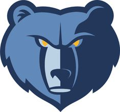 Memphis Grizzlies Alternate Logo (2005) - A blue bears head with yellow eyes