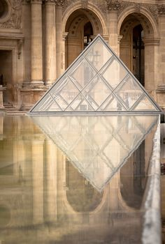the reflection of louvre…