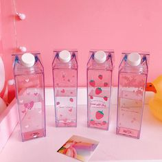 Cute Strawberry Milk Cup is part of Pastel pink aesthetic - Imagenes Color Pastel, Image Tumblr, Tout Rose, Cute Water Bottles, Cute Strawberry, Everything Pink, Aesthetic Pictures, Girly Things, Pretty In Pink
