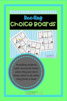 Choice Boards are a way for you to give your students choice in how they respond to their independent reading.Choice boards can be used to keep students engaged in their reading, to encourage students to respond to their independent reading and show their thinking and new learning & to keep early finishers engaged in authentic academic work.  These choice boards are open ended and can be used over and over with your students during independent reading. Differentiation Strategies, Choice Boards, Independent Reading, Teaching Resources, Teaching Ideas, Early Finishers, Fiction And Nonfiction, Teacher Tools, Elementary Teacher