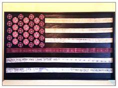 Thin Red Line Fire Hose Flag, Lindsay Wanner, St. Louis Artist