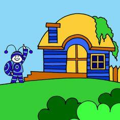 Bogyó és Babóca, Patrik háza Cartoon Ideas, Lisa Simpson, Luigi, Baby Room, Room Ideas, How To Make, House, Character, Home