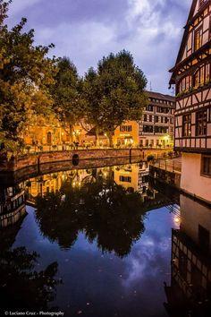 O maravilhoso bairro de Petite France em Estrasburgo, França.