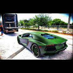 The Green Goblin Lamborghini Aventador