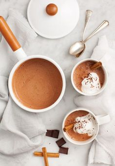 Maca Cacao Hot Chocolate - Healthier superfood hot chocolate - a cozy holiday treat.