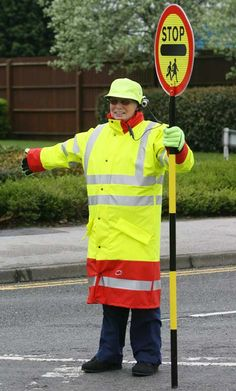 Lollipop Lady with Hat Camera