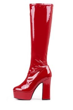 Red High Heels, High Heel Boots, Heeled Boots, Red Platform, Platform Boots, Dr Shoes, Me Too Shoes, Winx Club, Hannahs Shoes
