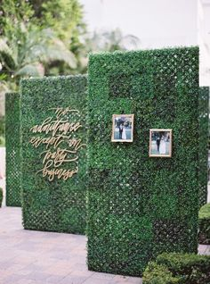 Wedding Decor Obsession Alert: Boxwood-Hedge Walls Walkway Build anticipation and create Wedding Signs, Diy Wedding, Wedding Events, Rustic Wedding, Weddings, Wedding Altars, Wedding Quotes, Decor Wedding, Party Wedding