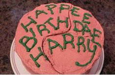 "Decorate a birthday cake to look just like Hagrid's. | 27 Magical Ways To Throw The Ultimate ""Harry Potter"" Party"