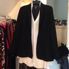 Ann Taylor black blazer 4 button front with functional pockets. 4 buttons on sleeves also Ann Taylor Jackets & Coats Blazers