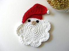 Sottobicchiere a forma di Babbo Natale
