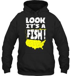 FUNNY USA MAP FISHING LOOK IT'S A FISH Fishing Shop, Best Fishing, Kayak Fishing, Fishing Apparel, Fishing Shirts, Fishing Videos, Fish Design, Fishing Outfits, Not Good Enough