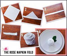 Romantic Napkin Folding