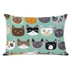 Found it at Wayfair - Cat Smiles Fleece Lumbar Pillow
