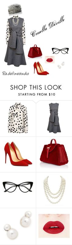 """CRUELLA DEVILLE"" by redefinestudioct on Polyvore featuring Boutique Moschino, CÉLINE, Meli Melo, Chanel, Auden, Imposter, women's clothing, women's fashion, women and female"