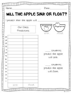 Miss Kindergarten: Apple Graphs and Glyph