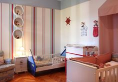 Navy decor for a baby girl and a boy