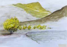 Lake Camp, watercolor