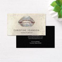 #makeupartist #businesscards - #silver lips  makeup artist business card