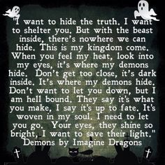 Demons by Imagine Dragons #endtimes Your soul matters most.
