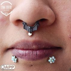 """409 Likes, 10 Comments - AMATO Fine Jewelry & Piercing (@amatopiercing) on Instagram: """"BVLA's the Lilith for the lovely Jen. #bvla #septum #safepiercing #appmember"""""""
