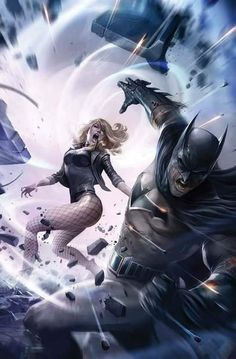 Black Canary vs Batman
