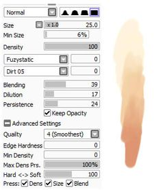 Paint Tool Sai brushes