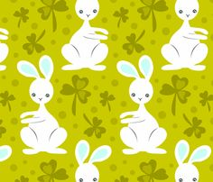 Easter_bunnies3 fabric by Renule.
