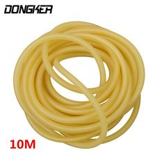 10M Slingshot Shooting Sports 4mm x 6mm Natural Latex Slingshots Rubber Tube Tubing Band Outdoor Powerful Catapult Rubber Band #Affiliate